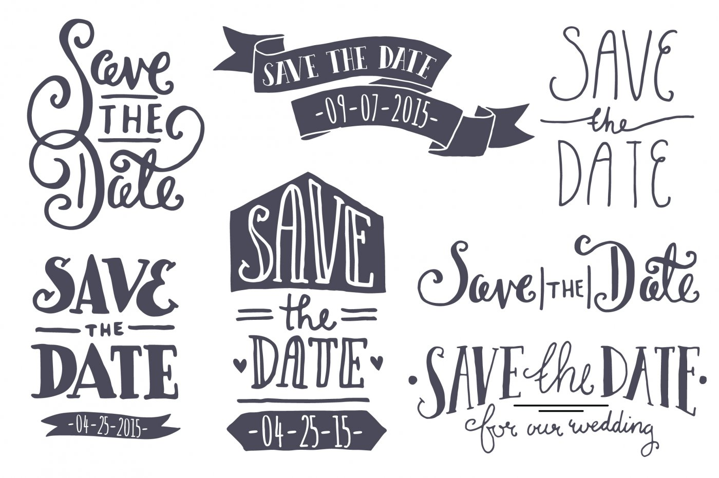 1400x931 Save The Date Photo Overlays By Itty Bitty Paper Co