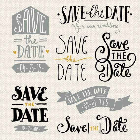 570x570 Clip Art Save The Date Overlays 1 Photoshop Psd Editable