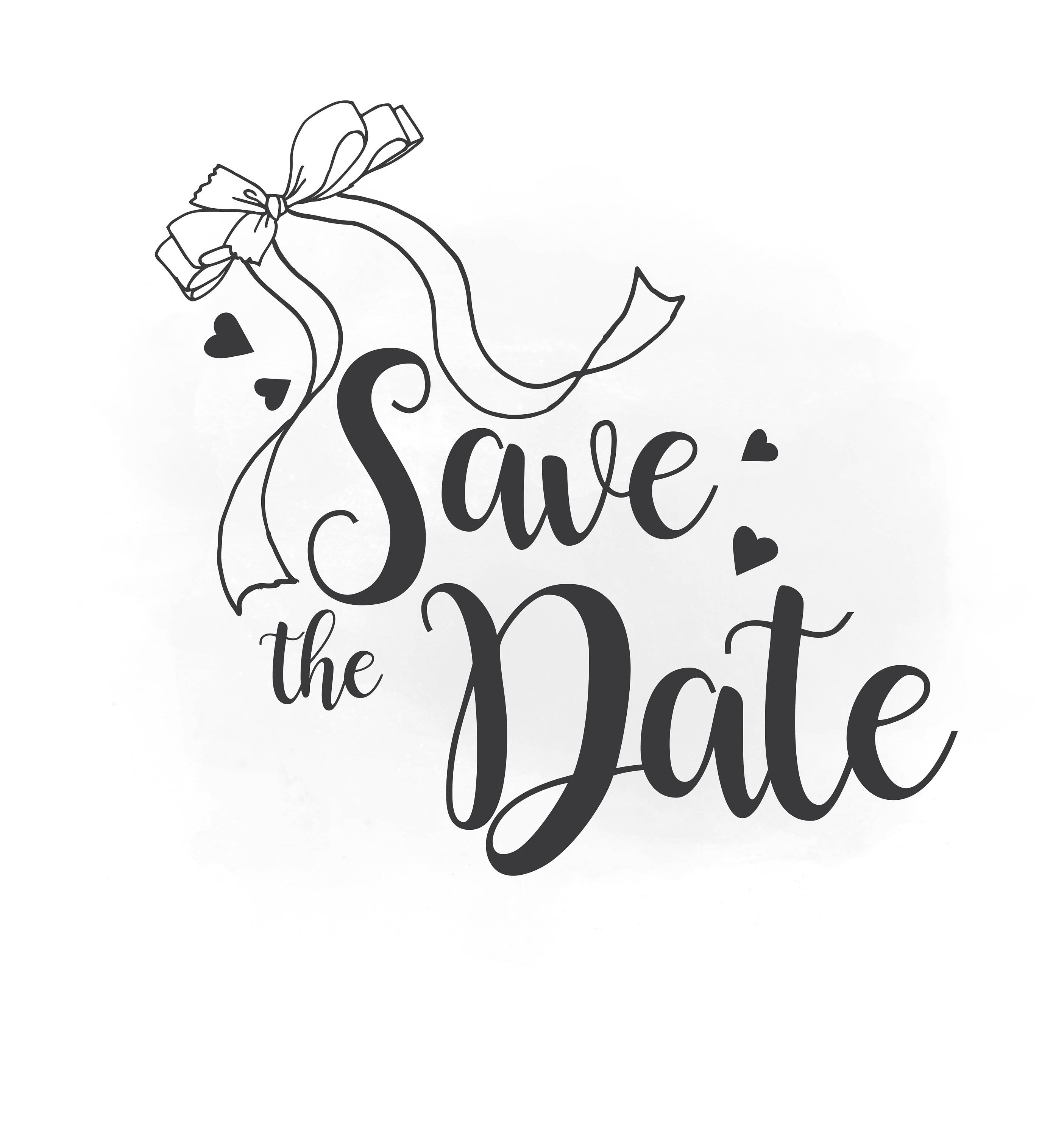 2810x3000 Save The Date Svg Clipart Wedding Annuncment Save The Date Etsy