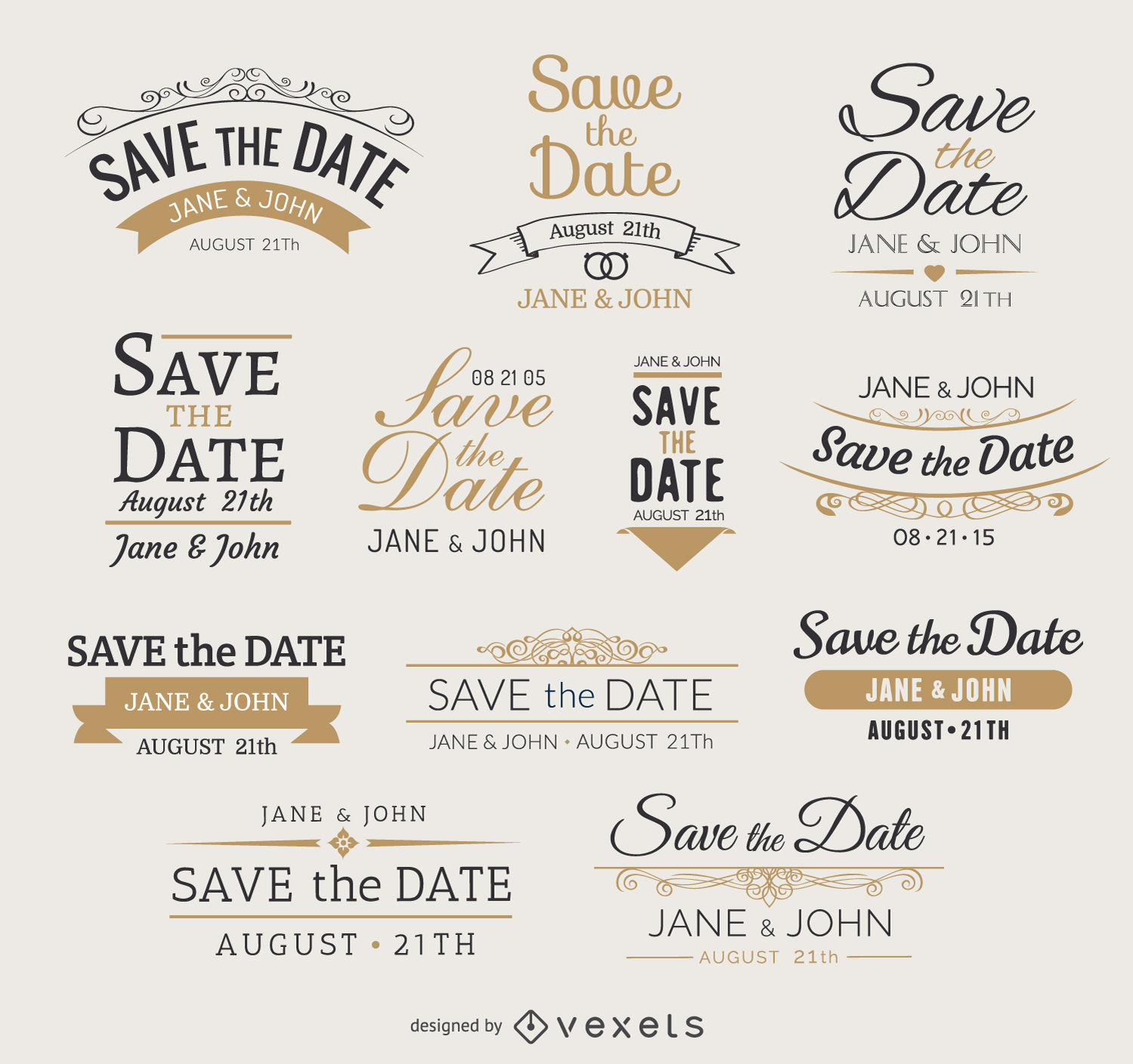 1500x1409 Save The Date Vector Graphics To Download