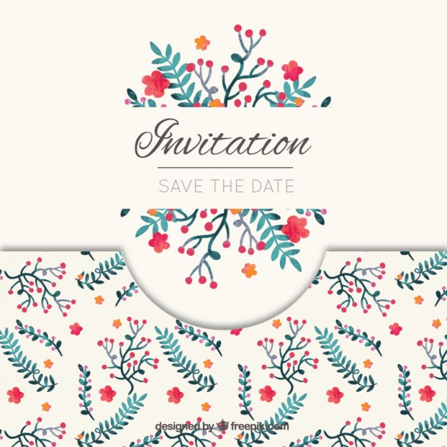 626x626 Elegant Save The Date Invitation Vector Free Download