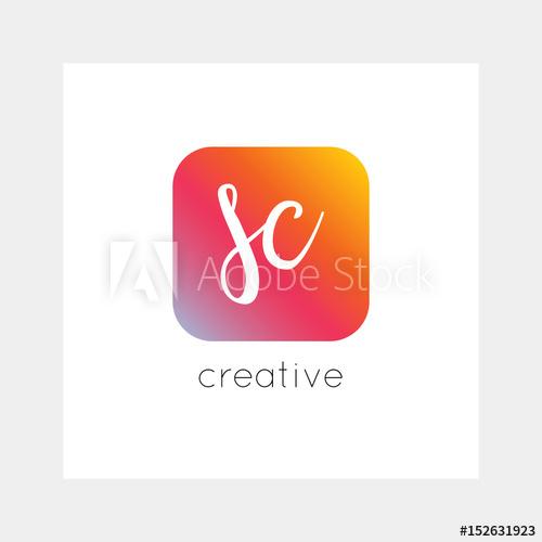 500x500 Sc Logo, Vector. Useful As Branding, App Icon, Alphabet