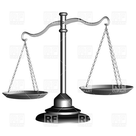 480x480 Silver Scale Of Justice On Stand Vector Image Vector Artwork Of