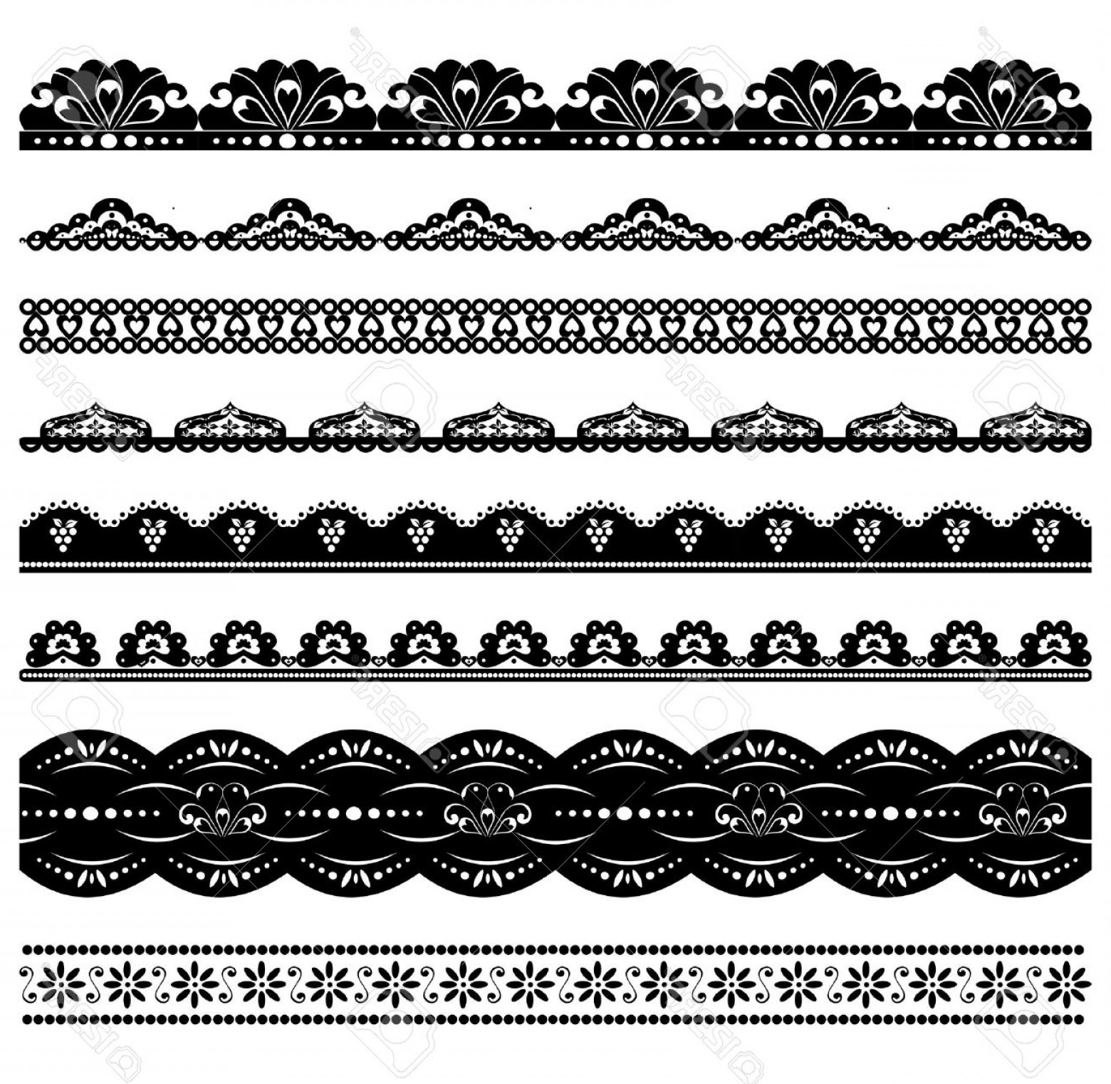 1560x1522 Photoset Of Vector Scalloped Borders Shopatcloth