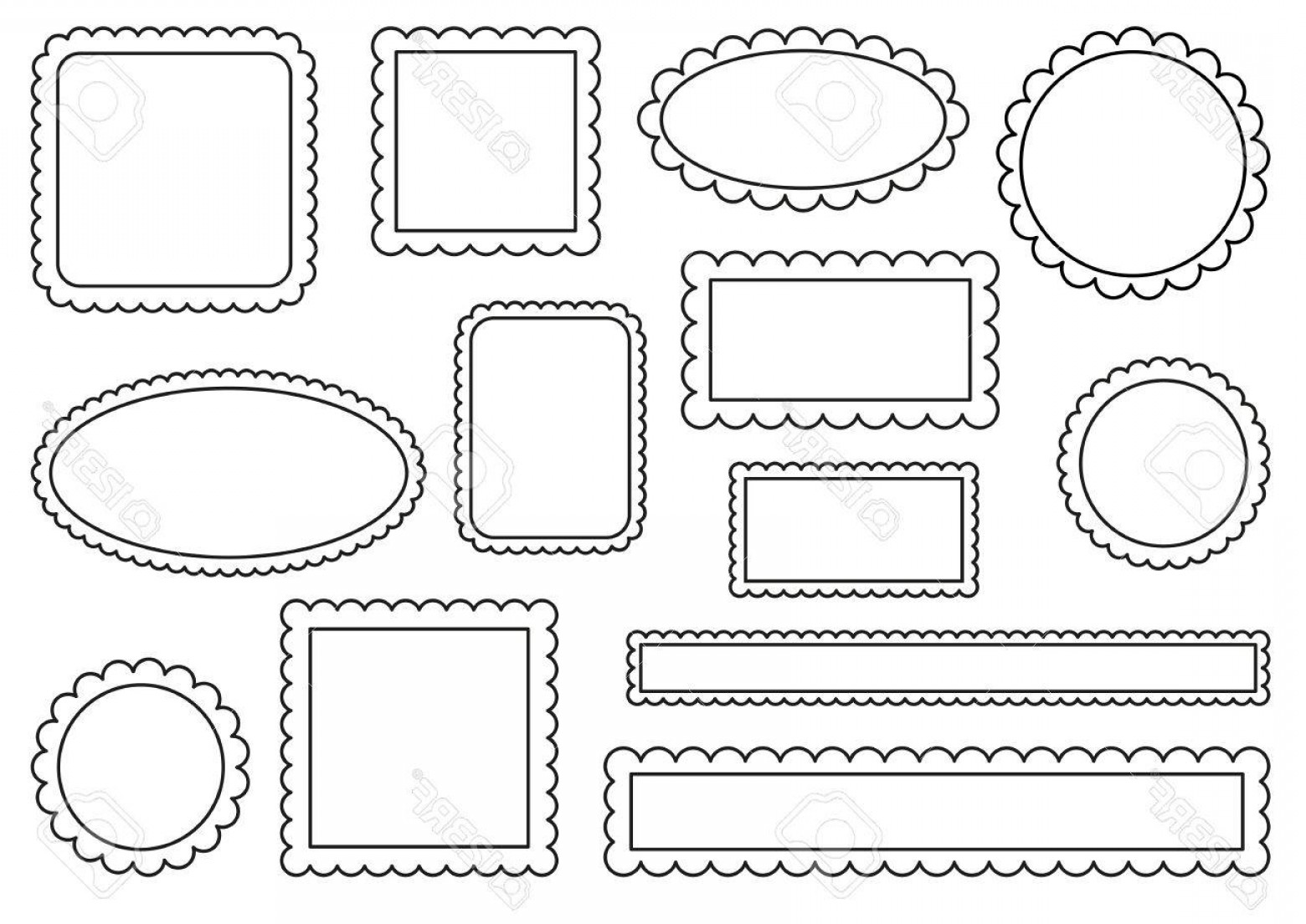 1560x1104 Photostock Vector Collection Of Scalloped Frames Shopatcloth