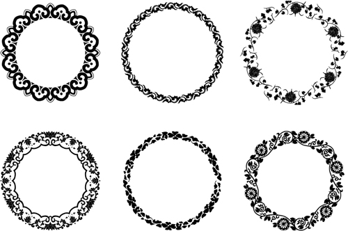 500x332 Round Floral Frame Vectors Free Download