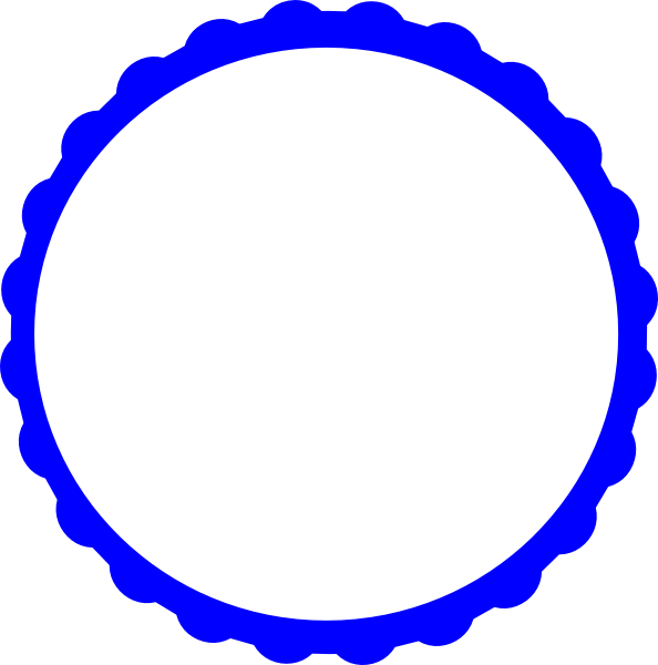 594x600 Scalloped Frame Clipart