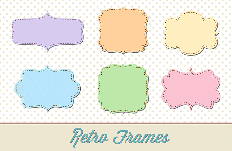 800x520 Scalloped Frame Vector