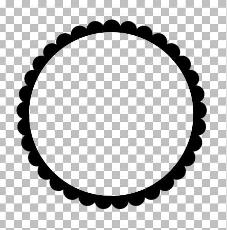 444x451 Scalloped Frame Vector