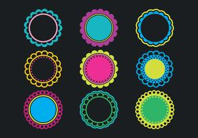 286x200 Scalloped Frames Free Vector Art