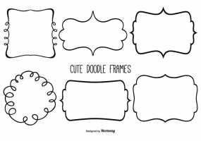 285x200 Scalloped Frames Free Vector Graphic Art Free Download (Found