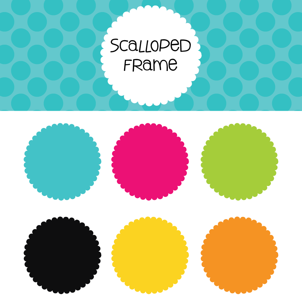1000x1000 Vector Frame Clipart Scalloped Frame 28