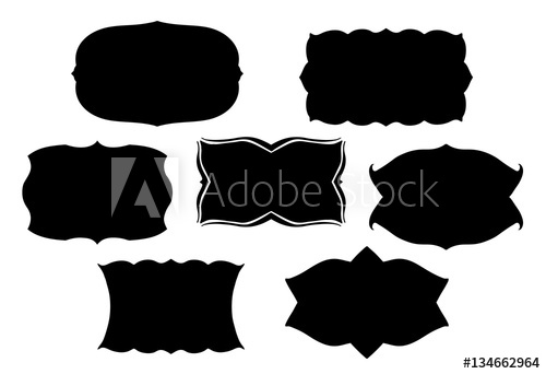 500x342 Blank Black Vector Frames Or Text Boxes In Old Victorian Style
