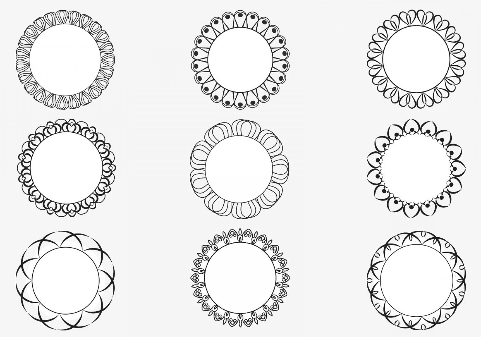1680x1176 Decorative Circular Frame Vector Pack Shopatcloth