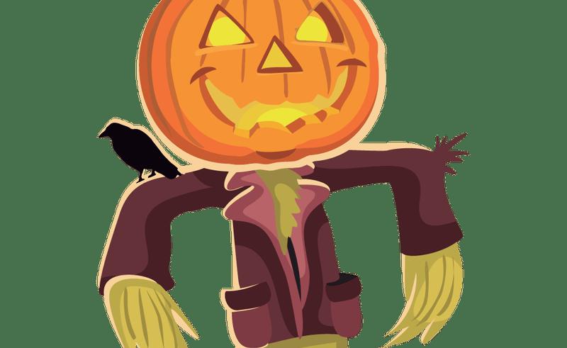800x491 Pumpkin Scarecrow Vector Transparent Library
