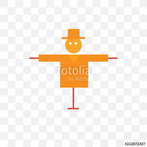 500x500 Scarecrow Vector Icon Isolated On Transparent Background