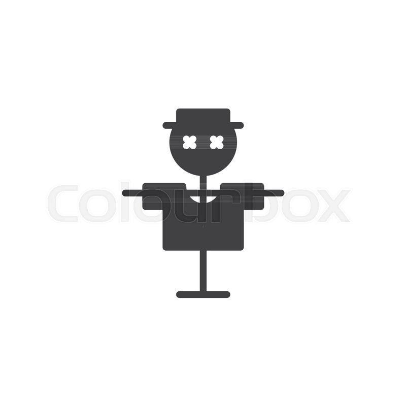 800x800 Scarecrow Vector Icon. Filled Flat Sign For Mobile Concept And Web