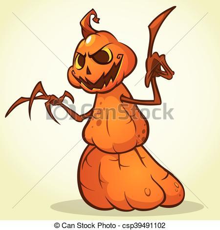 450x470 Cartoon Scarecrow For Halloween. Autumn Celebrations With Cute