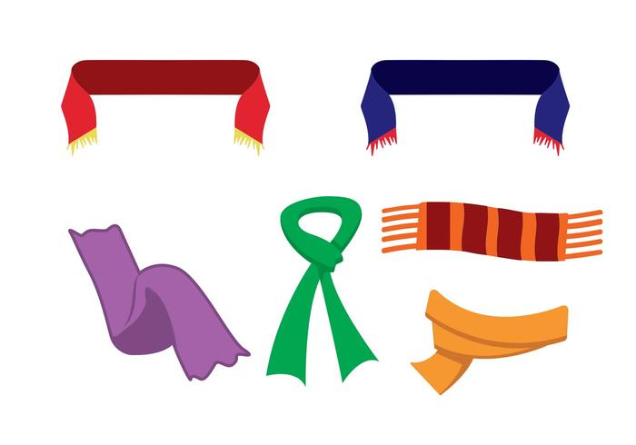 700x490 Free Vector Neck Scarf Icons