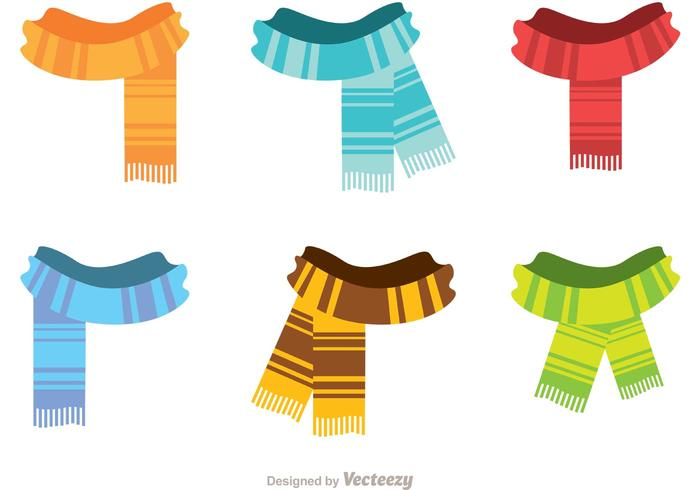 700x490 Fringed Neck Scarf Vectors