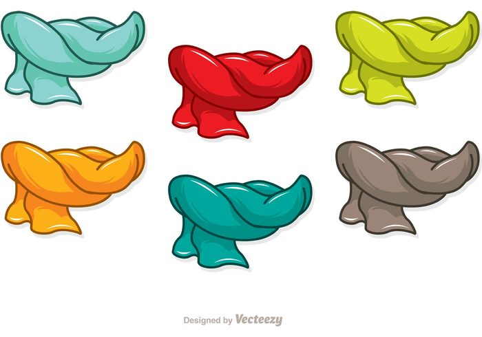 700x490 Colorful Cartoon Scarf Icons Vector Pack 143976