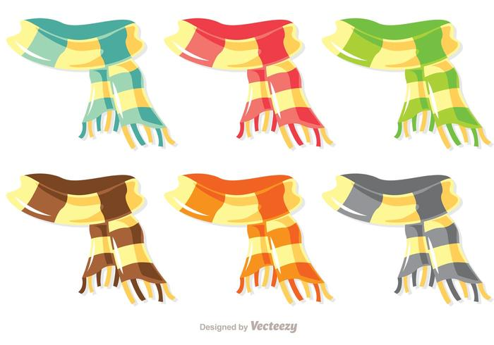 700x490 Colorful Scarf Vector Pack