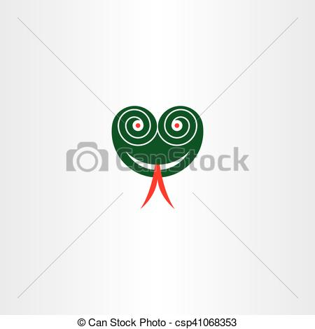 450x470 Scary Snake Head With Hypnotized Eyes Vector Icon. Scary Snake