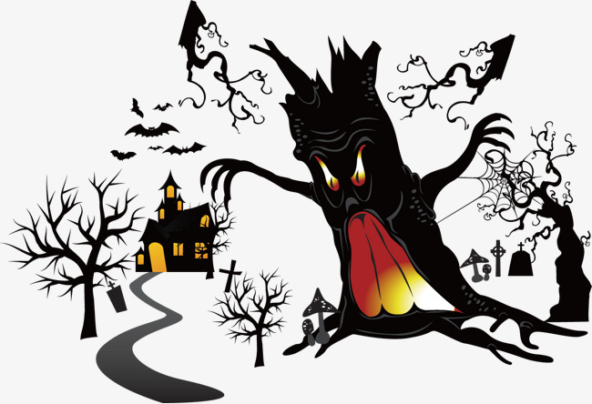 650x444 Vector Scary Tree, Tree Vector, Scary, Tree Png And Vector For