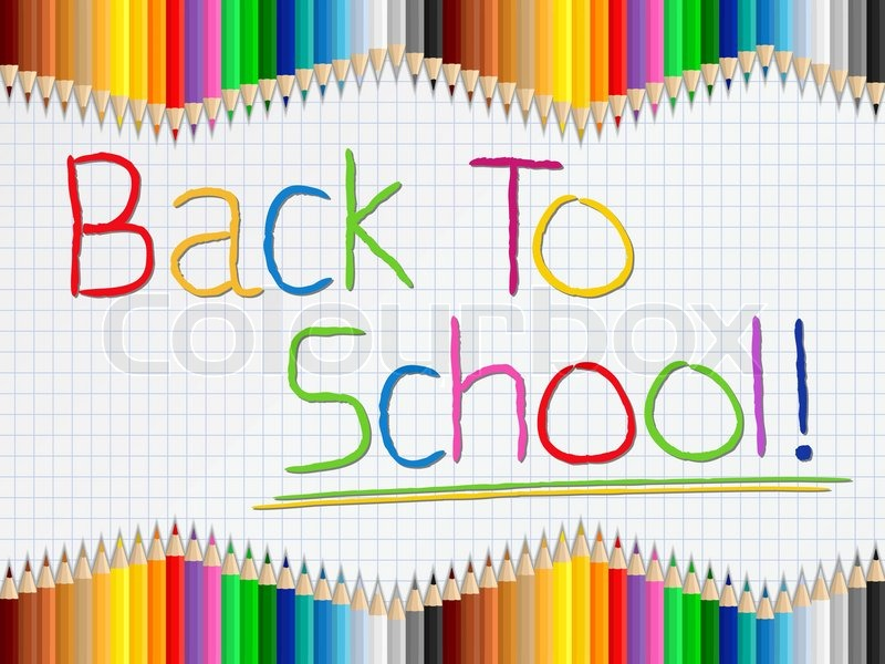 800x600 Back To School Background Stock Vector Colourbox