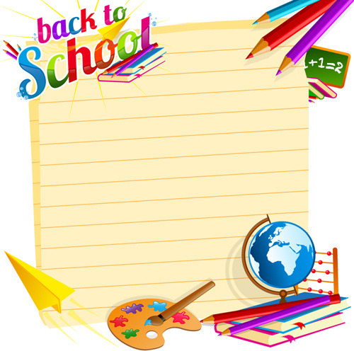 500x496 School Backgrounds Set Free Vector In Encapsulated Postscript Eps