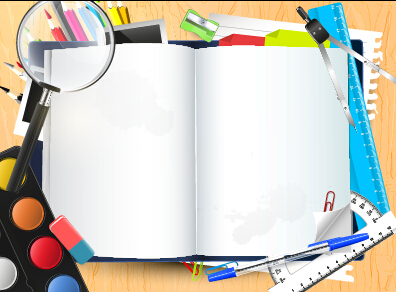 396x292 Vector Background School Elements Illustration 04 Free Download