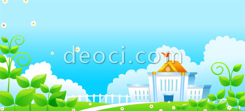 500x227 Vector Cartoon Style School Background Design Templates Ai File