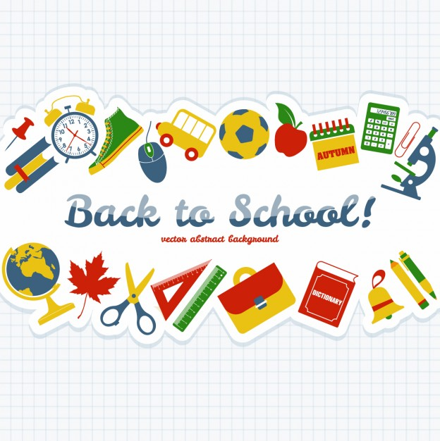 624x626 Back To School Objects Background Vector Free Download