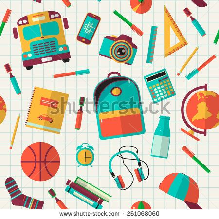450x450 Back To School Background. Vector Illustration. Back To School
