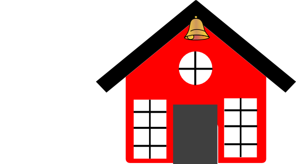 600x332 School Bell Clipart Red School House With Bell Clip Art