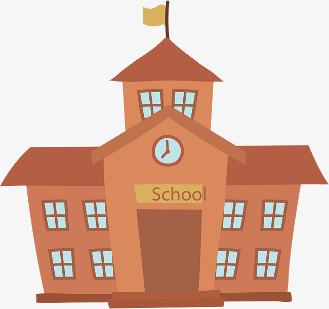 650x610 School Building, Building Clipart, Vector Png, Academic Building