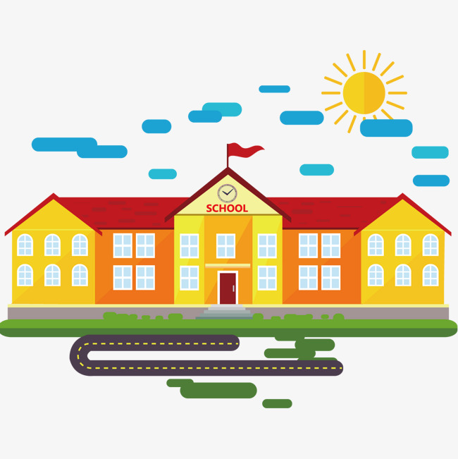 650x651 School Building Vector Material, Building Clipart, School