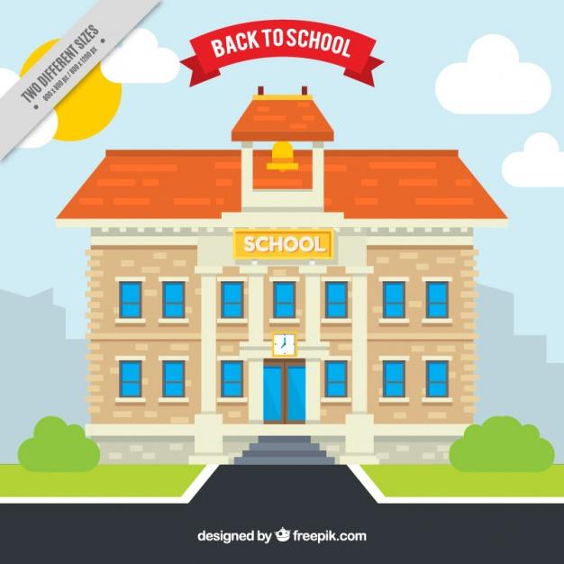 626x626 School Building Background Vector Free Download