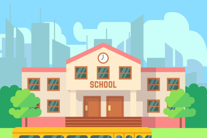720x479 School Building Vector Flat Concept By Microvector
