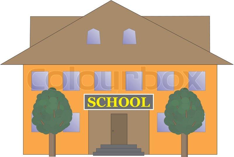 800x540 School Building Vector Illustration Stock Vector Colourbox