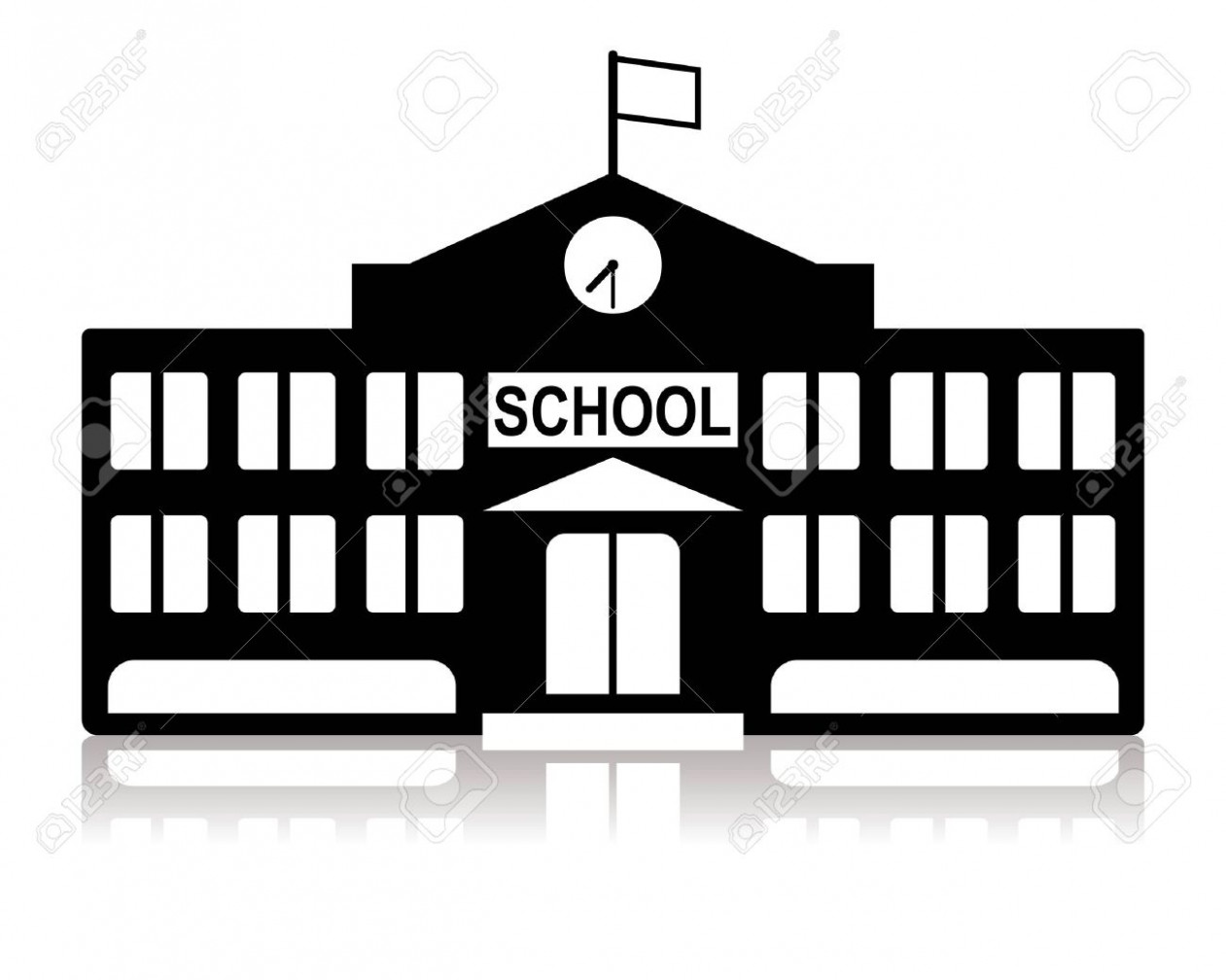 1261x1008 School Building Vector Image 18 Stockunlimited School Building