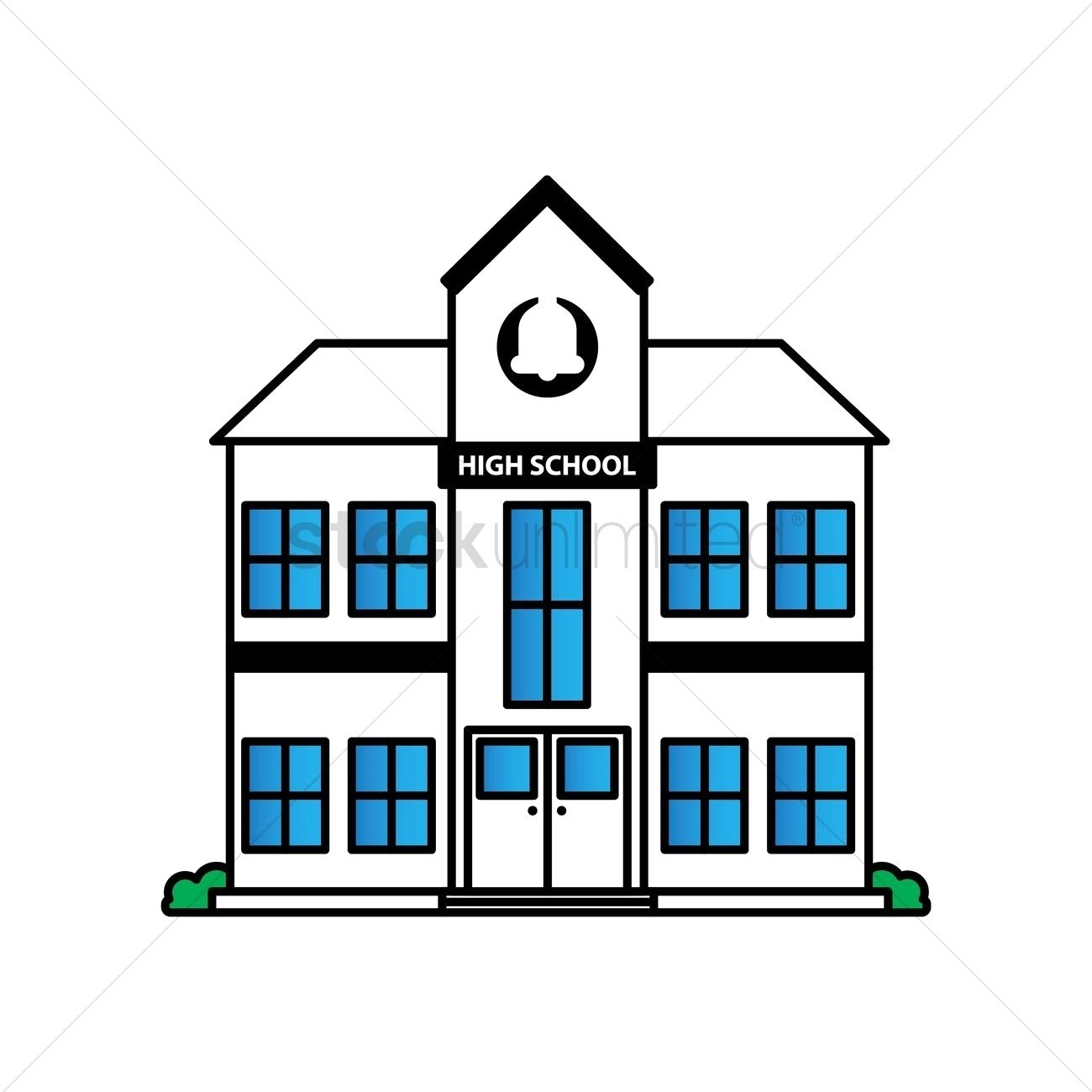 1300x1300 Free High School Building Vector Image 1623543 Stockunlimited For