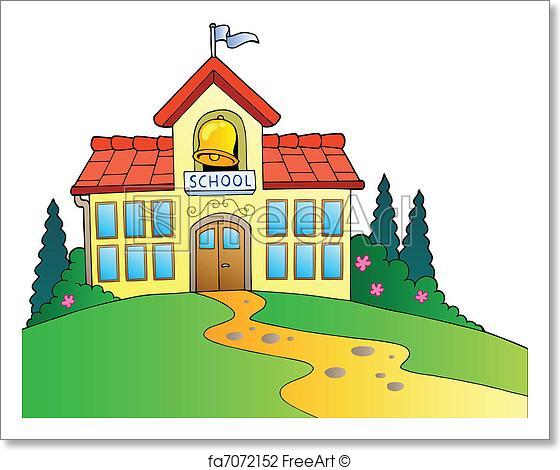 560x470 Free Art Print Of Big School Building. Big School Building