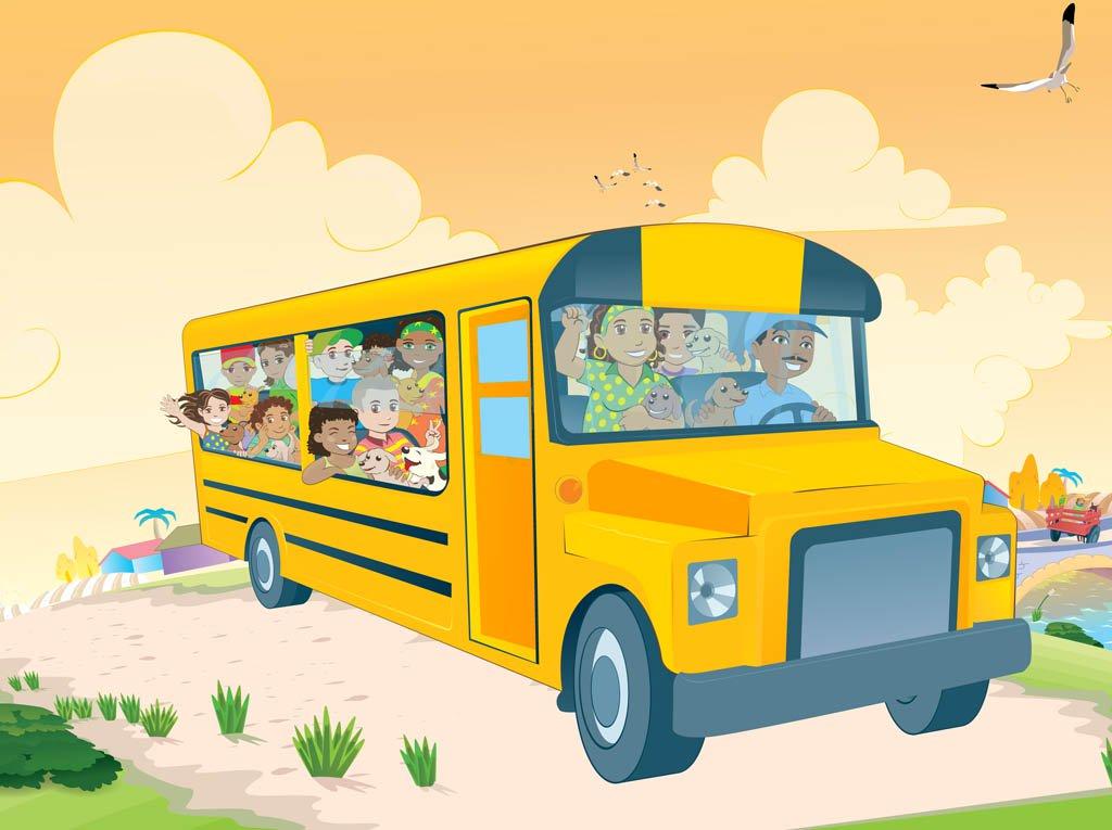 1024x765 Kids In School Bus Vector Art Amp Graphics