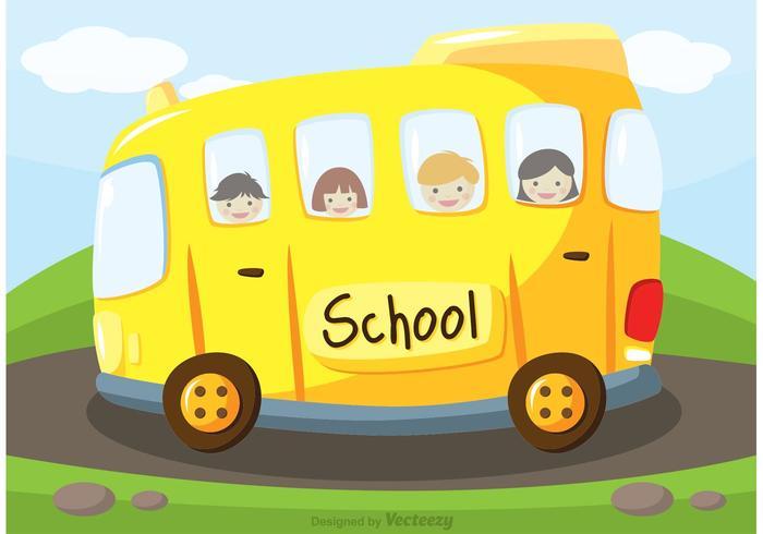 700x490 School Bus Vector Background