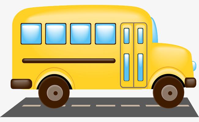 650x400 School Bus Vector Material Png, School Vector, Bus Vector, Bus