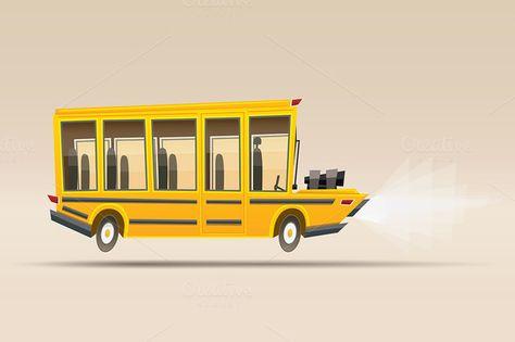 474x315 School Bus. Vector Illustration School Buses