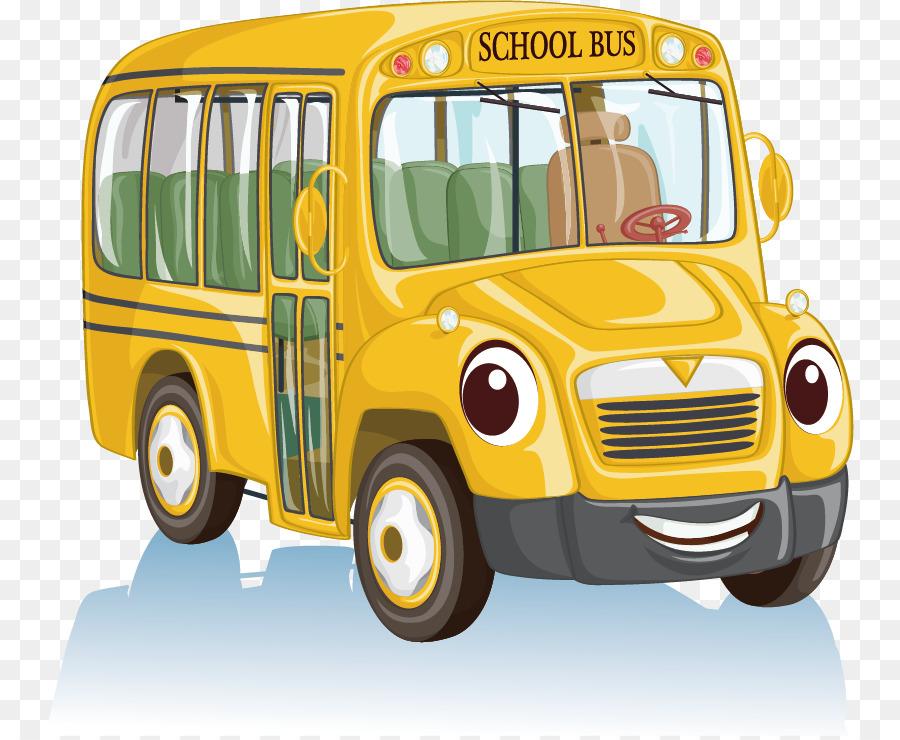 900x740 School Bus Cartoon Clip Art