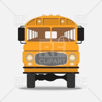 400x400 School Bus Front View Vector Image Vector Artwork Of