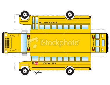380x294 This Is A School Bus That Can Be Cut Out And Gluedtaped To Become